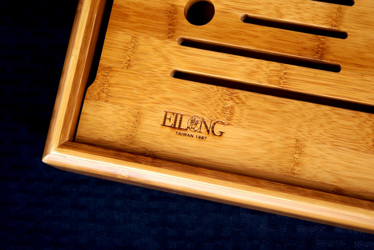Gung Fu Cha Tea Tray with Utensil Compartment from Blue Lantern Tea